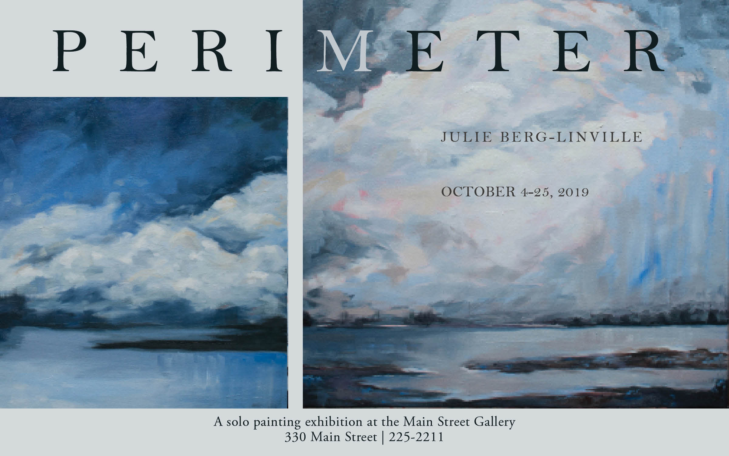 """Perimeter"" - an exhibit by Julie Berg-Linville at the Main Street Gallery"