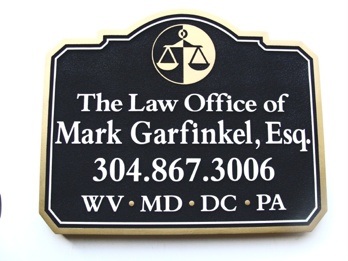 "A10181 - Attorney Wall or Blade (""Shingle"") Sign"