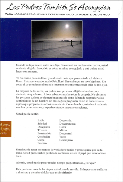 Los Padres Tambien Se Acongojan (Spanish version of Fathers Grieve, Too)