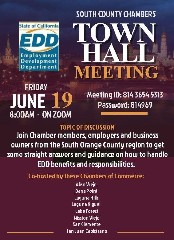 EDD/South County Chambers Town Hall Meeting