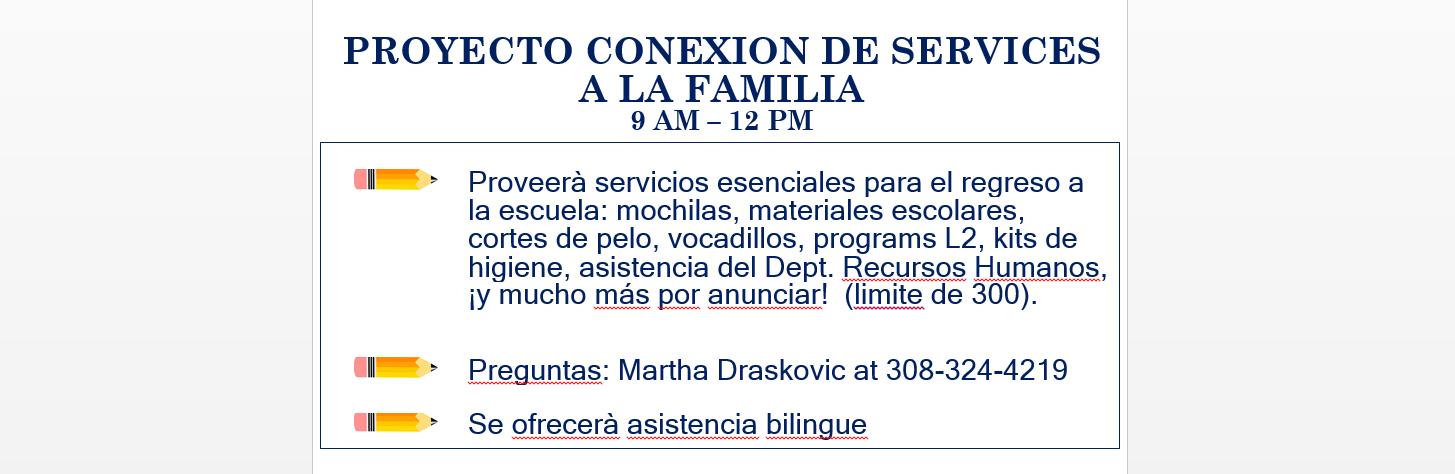 PROYECTO CONEXION DE SERVICES A LA FAMILIA