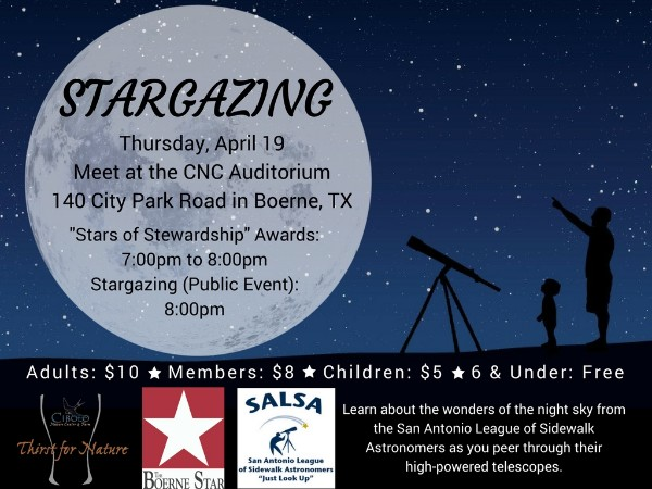 CNC: a Thirst for Nature event - Stargazing and 2018 Stewardship Awards