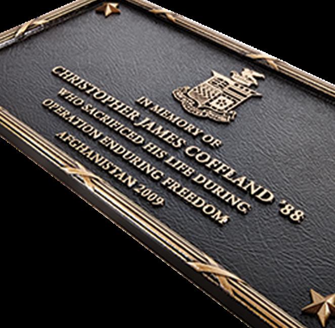 M7533 - Cast Bronze Memorial plaquein Honor of a Fallen Soldier in Afghanistan. .