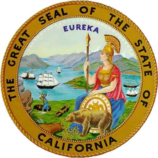 W32070 - Great Seal of California Wooden Plaque