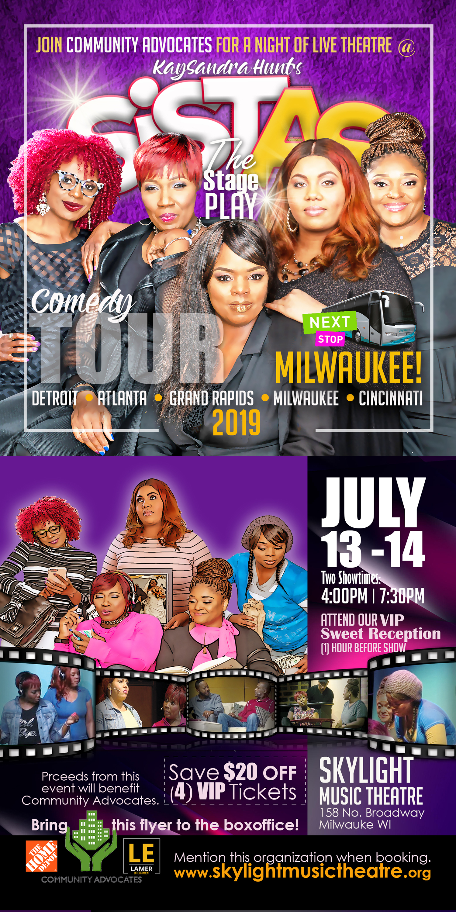 SISTAS: The Comedy StagePlay to Benefit Community Advocates & the Milwaukee Women's Center