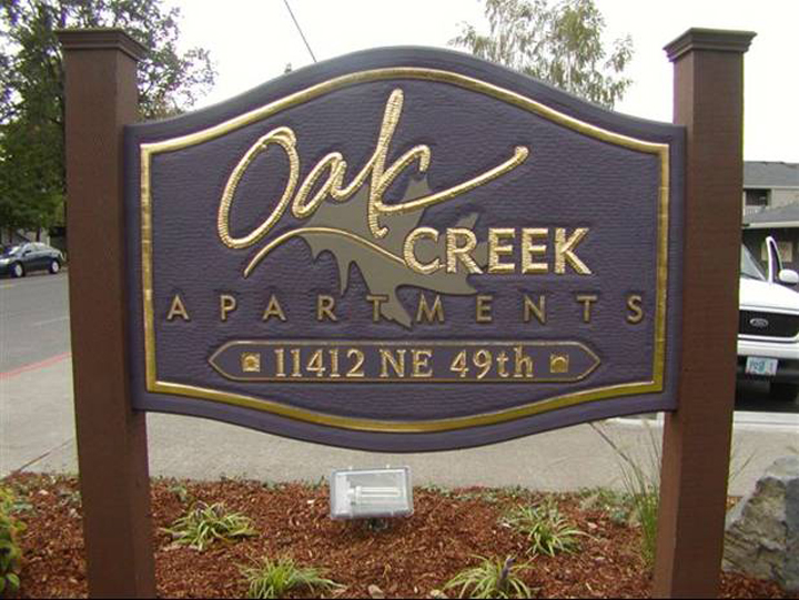 Oak Creek Monument Sign