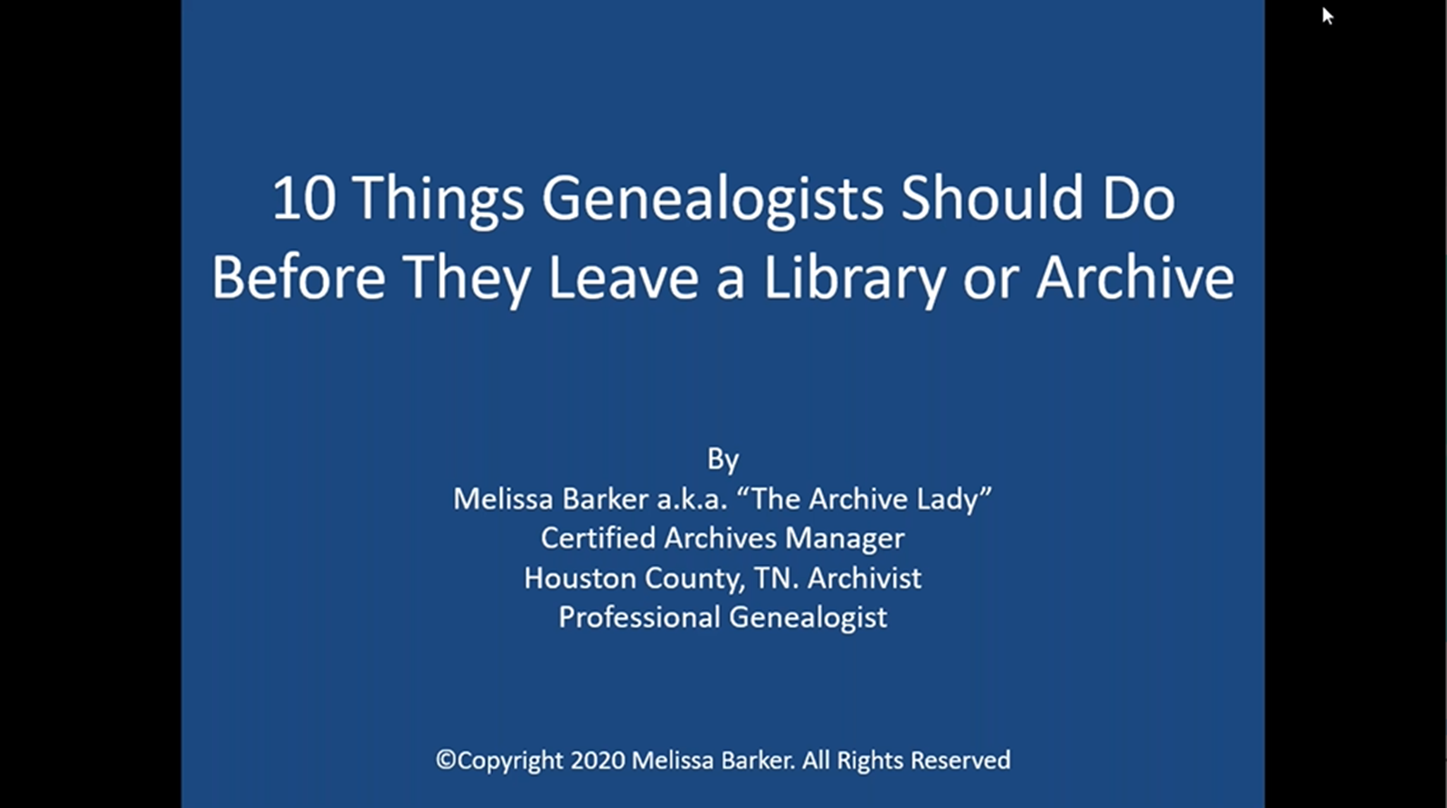 10 Things a Genealogist Must Do Before Leaving a Kentucky Library or the State Archives