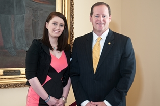 Sen. Cam Ward with Elizabeth Ashley Leach