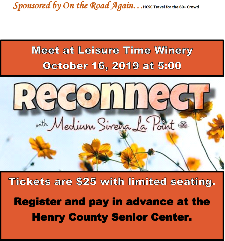 Oct. 16 Leisure Time Winery