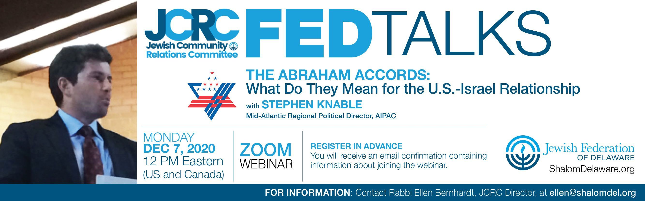 JCRC FEDTALKS: The Abraham Accords