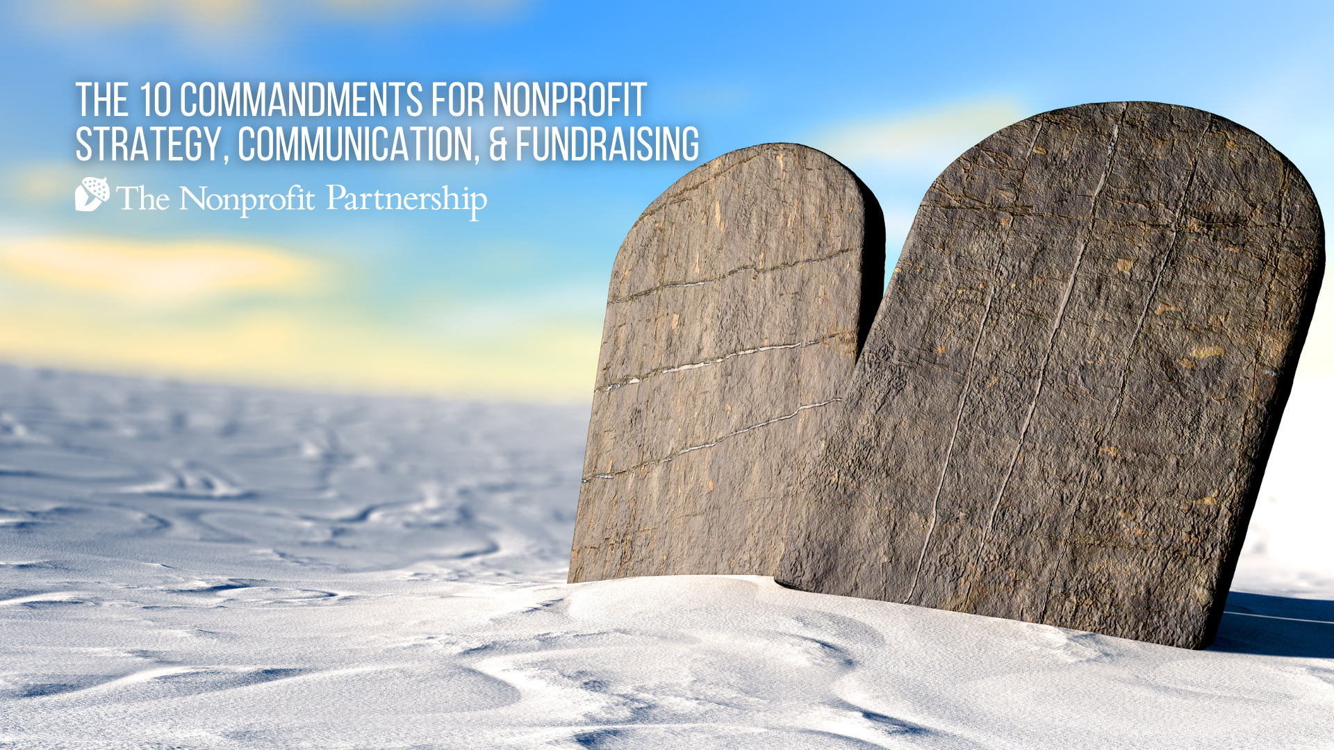 [Zoom Meeting] The 10 Commandments for Nonprofit Strategy, Communication, and Fundraising