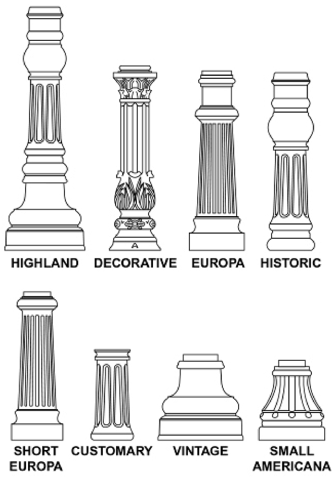 M4330 - Decorative Bases for Round Posts