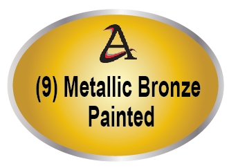 M7470 - (9)  Metallic Bronze Painted Plaques