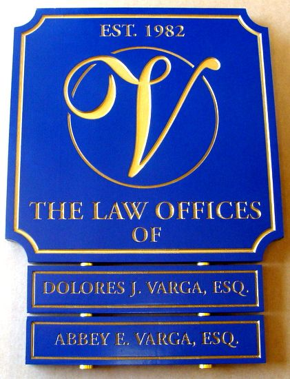 A10627 - Law Office Engraved Directory Sign, with Changeable Rider Signs