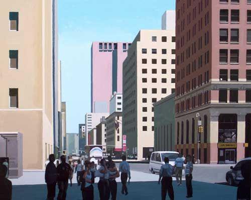 """Church Street - Lower Manhattan"" - acrylic on canvas, 24"" x 30"""
