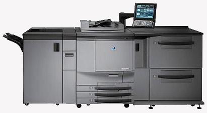 Three Konica Minolta Bizhub Pro digital presses