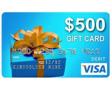 $500 Visa Giftcard