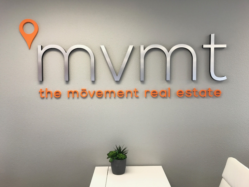 3D Logo Lobby Signs with Brushed Metal Orange County CA