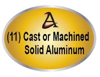 M7542- (11)  Cast (3D)  or Machined (2.5-D) Solid Aluminum