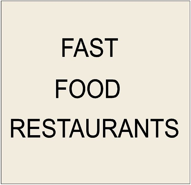 Q25800 - 8. Signs for Fast Food Restaurants