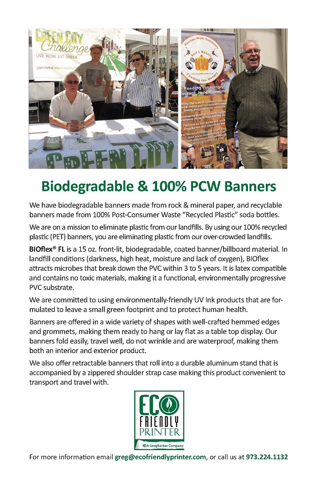 Biodegradable Banners