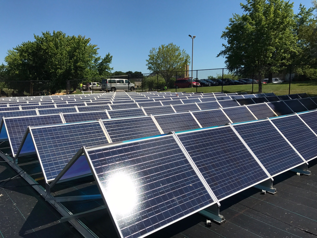 Solar panels installed at Tubman East