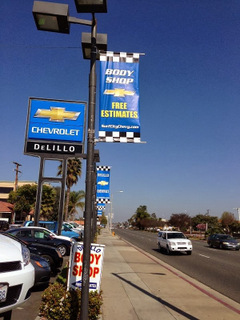 Pole Banner Signs for Orange County Auto Dealerships