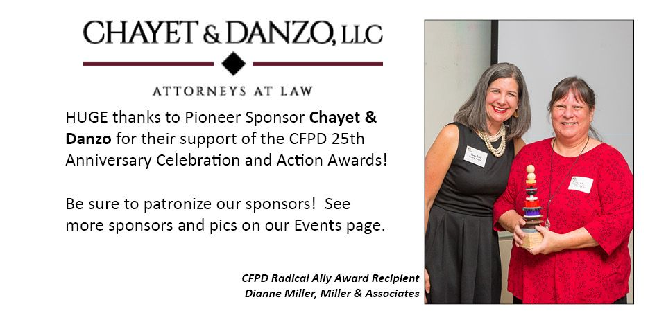 CFPD Sponsor Chayet & Danzo with Awardee Miller & Associates