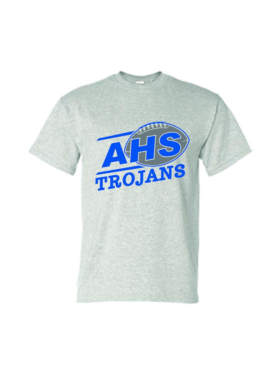 Auburn Football Short Sleeve (Ash Gray)