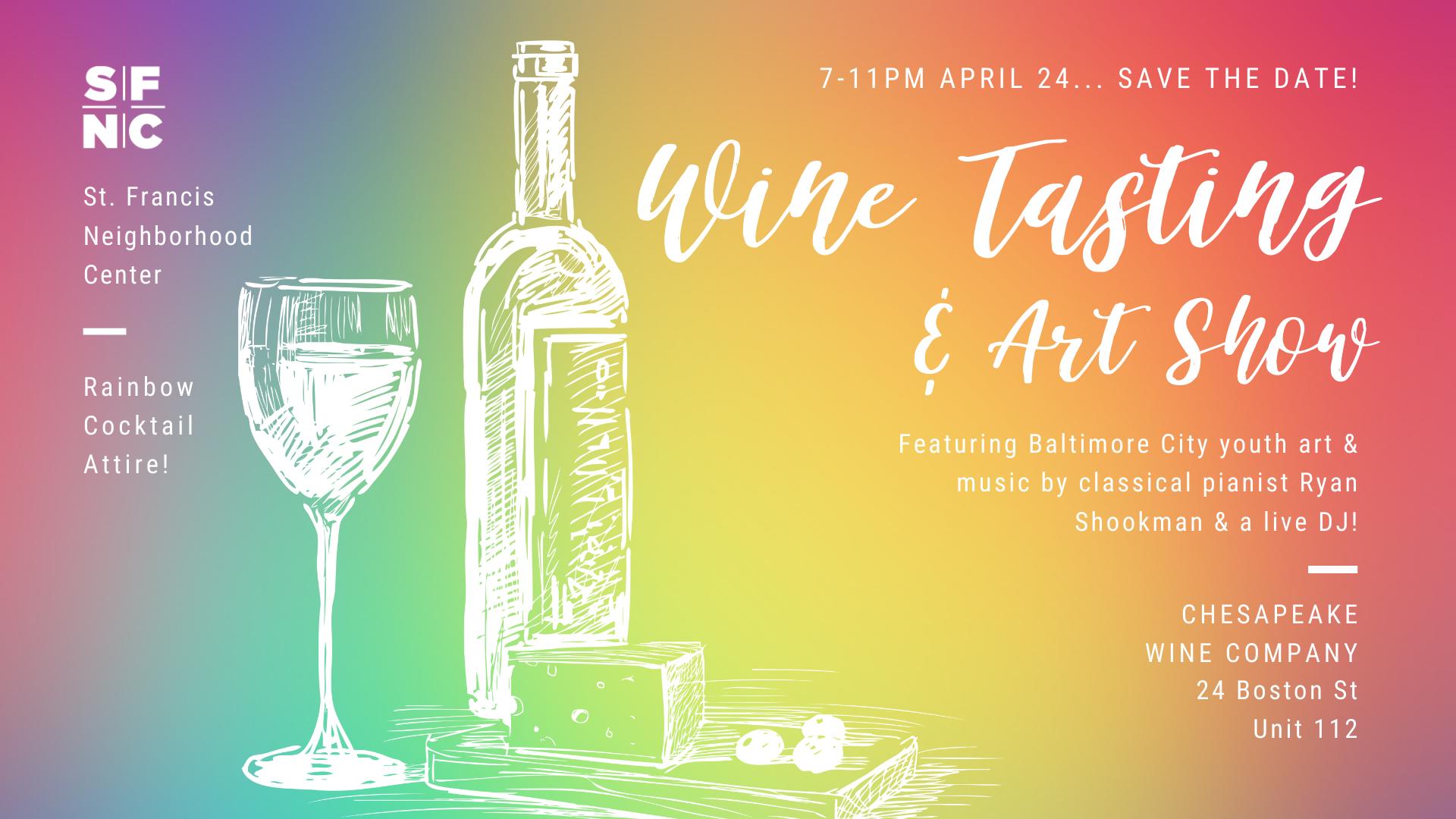 Spring Fundraiser Wine Tasting & Art Show