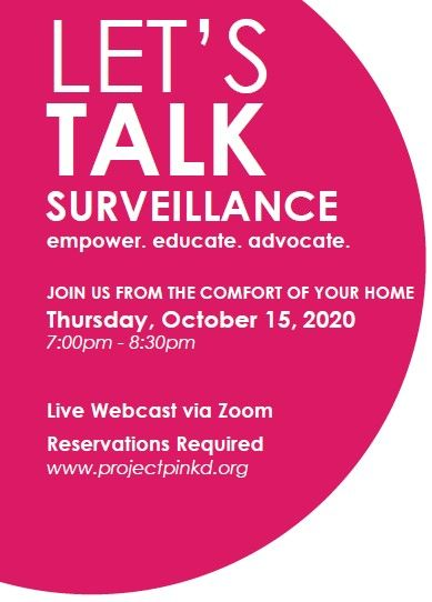 Area Medical Professionals to Join Project Pink'd at Upcoming Let's Talk Surveillance Live Panel