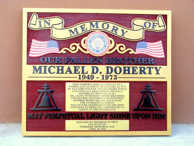 GC16565 - Memorial Plaque for Fallen Workman
