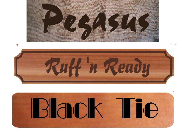 P25424 - Vintage Carved Wood (Barnwood, Cedar, and Redwood) Stall Signs