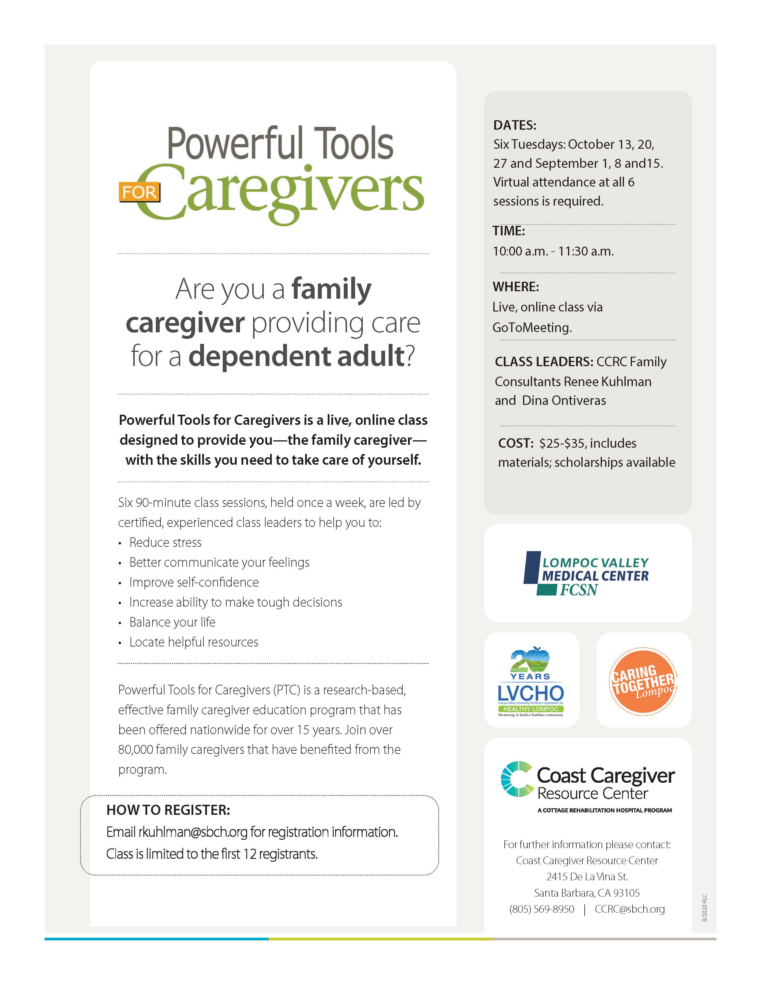 Powerful Tools for Caregivers October 2020