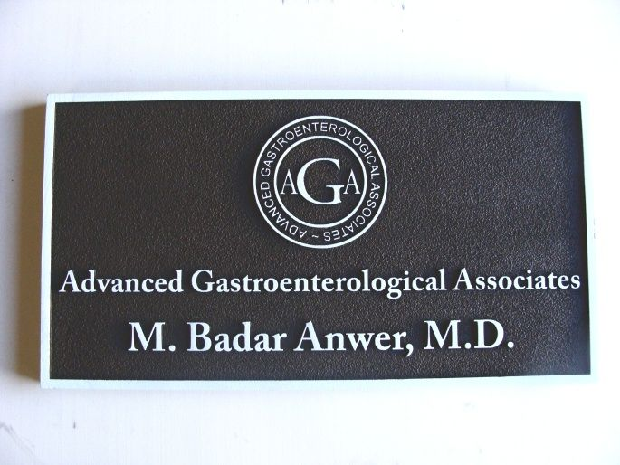 B11025 - Carved HDU Gastroenterological Medical Office Wall Sign with  Logo