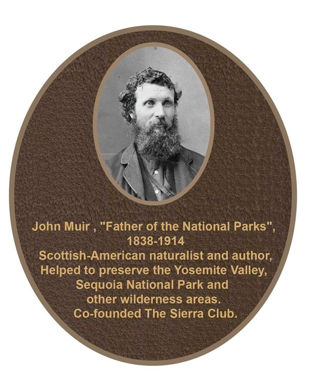 UP-3192 - Memorial Plaque for John Muir, Bronze with Giclee Photo