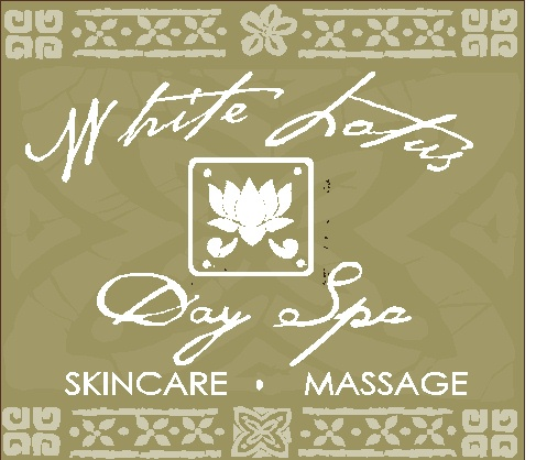 "SA28433 - Decorative Sign for ""White Lotus Spa,"" Skincare, Massage"