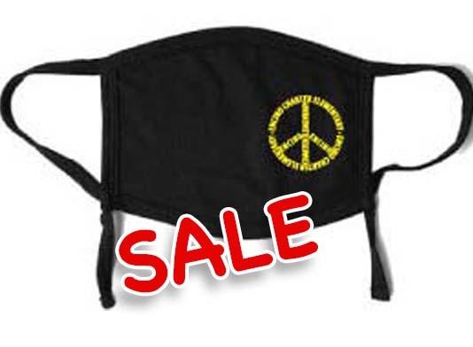 PEACE - Youth Mask (Black)