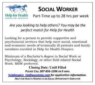 NEEDED SOCIAL WORKER