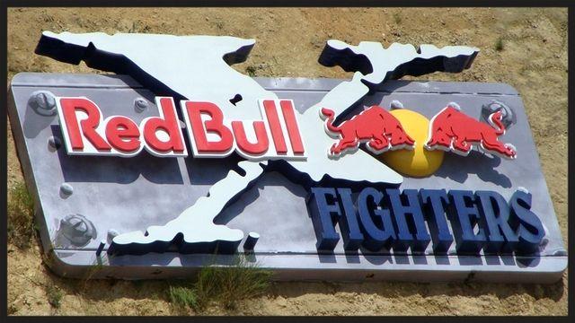 S27990- Large  (20ft) 3-D Multi-layer Red Bull Motocross Event Sign
