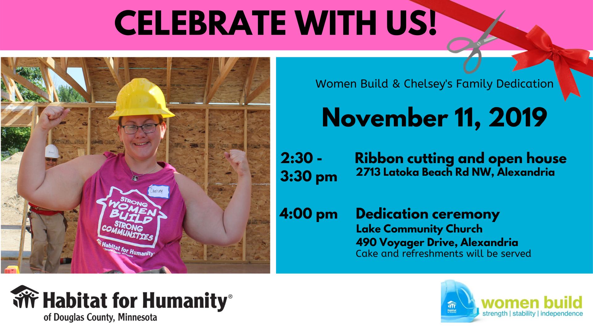 Women Build Dedication for Chelsey's home - Nov 11, 2019