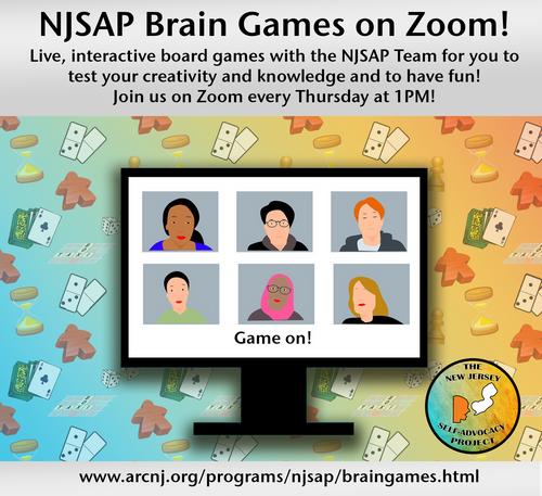 NJSAP Brain Games on Zoom
