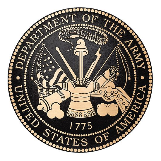 M7090 - Cast Bronze Plaque of the Seal for the US Army, 2.5-D