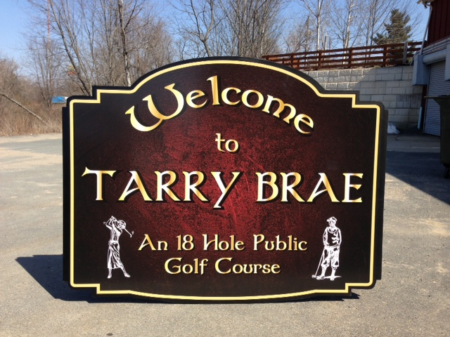 "1/2"" PVC (Sintra) Golf Course Sign"