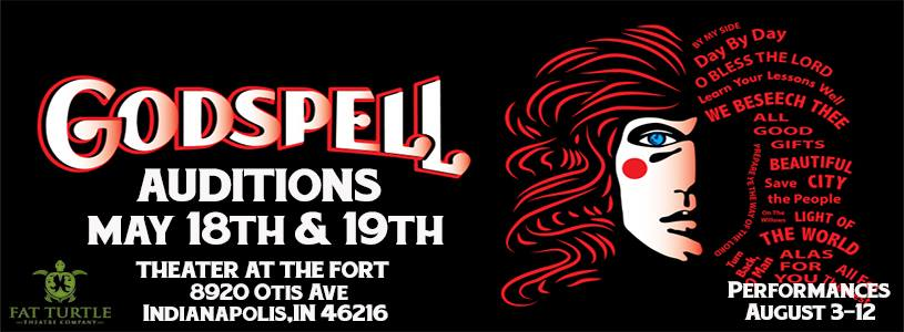 Fat Turtle Theatre Company announces Godspell Auditions at Theater at the Fort