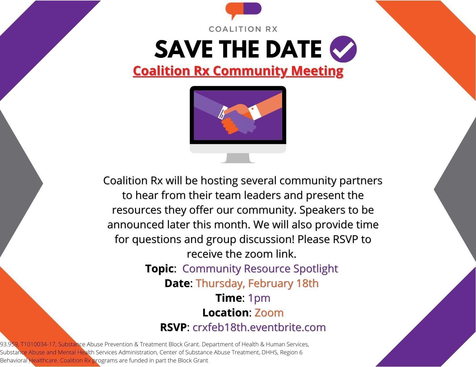 Coalition Rx Community Meeting