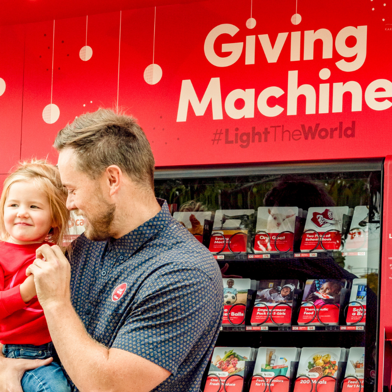 #LightTheWorld with A New Leaf through Giving Machines During Christmas