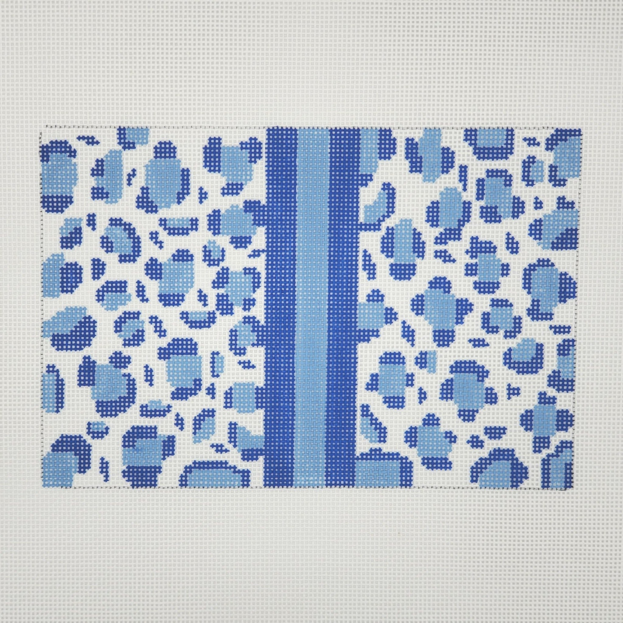 Leopard Clutch, Blue