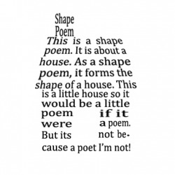 Poetry & Word Play - Writing a Shape Poem