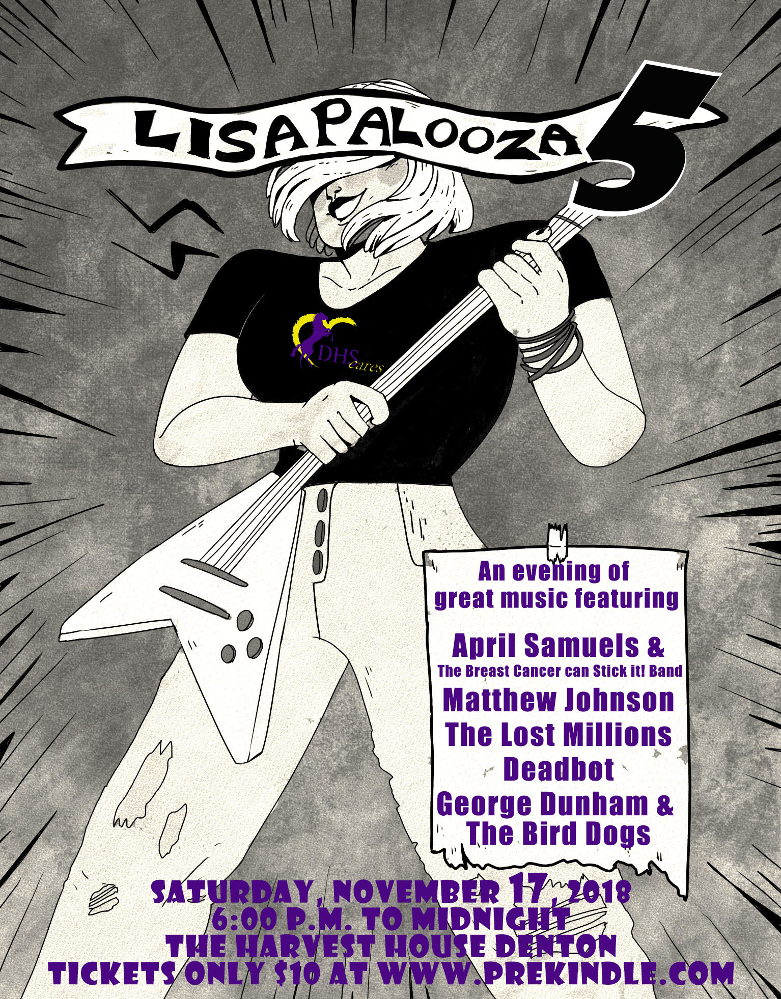 Denton High Cares Awards Scholarship to Winner of Lisapalooza 5 Poster Contest
